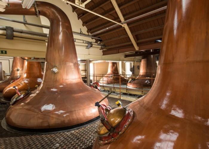 Whisky Stills at Glen Moray Distillery, Elgin