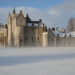 Ballindalloch Castle in the mist