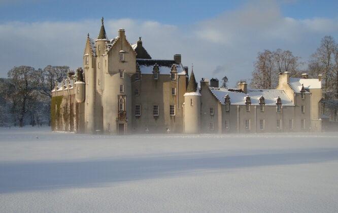 Ballindalloch Castle in the mist