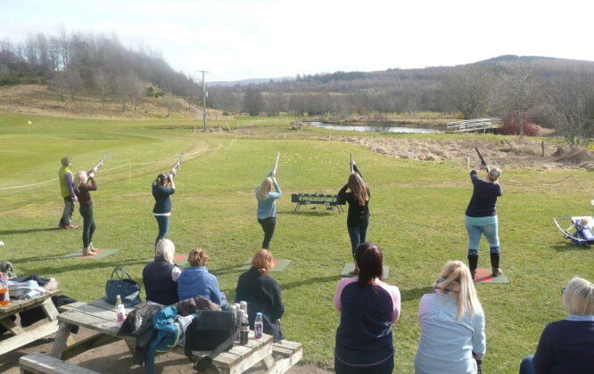 Clay Laser Shooting