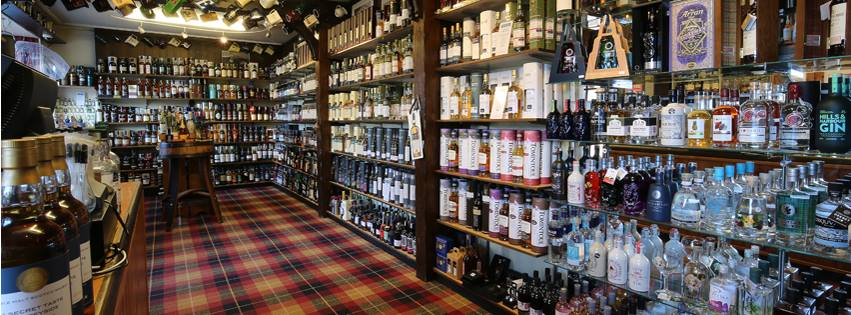The Whisky Castle whisky display