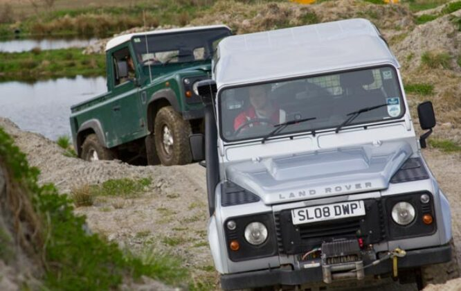 Land Rovers at House of Mulben