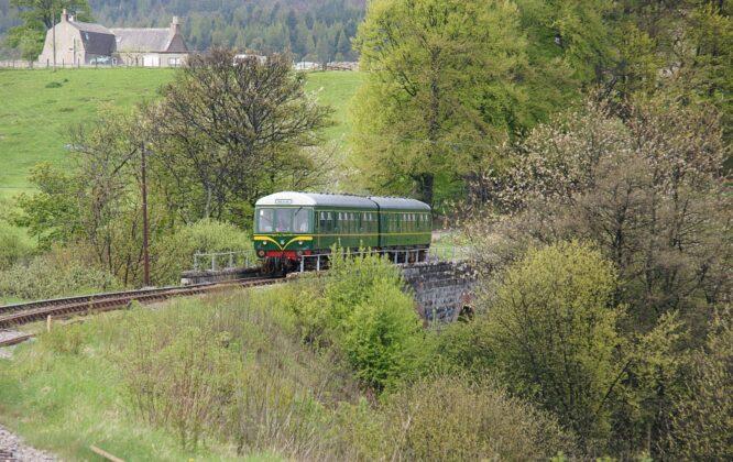 train on Dufftown railway