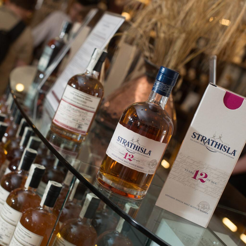 Whisky Bottles at Strathisla Distillery