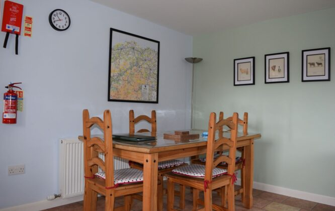 Another picture of dining area within Moray Cottages