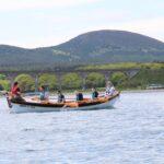 Cullen Sea School Coastal Rowing with viaduct and Bin of Cullen