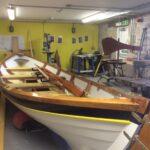 Cullen Sea School coastal rowing skiff under construction