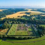 Drone picture of the Gordon Castle walled garden