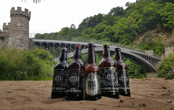 Picture of Spey Valley Beers outside the brewery