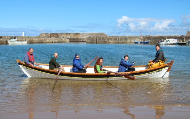 Picture of Cullen Sea School group at Harbour