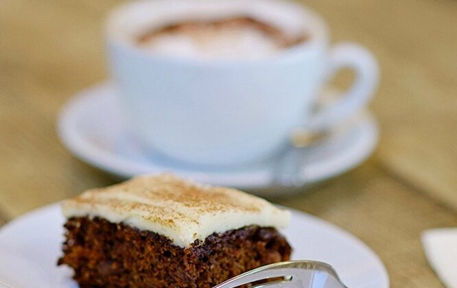 Picture of some coffee and cake