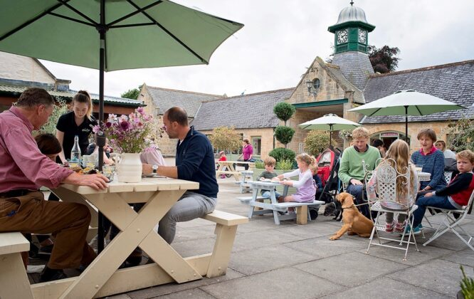 Picture of outdoor seating at Logie Steading