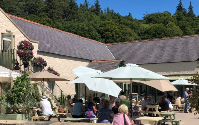 Picture of an outdoor cafe at Logie Steading