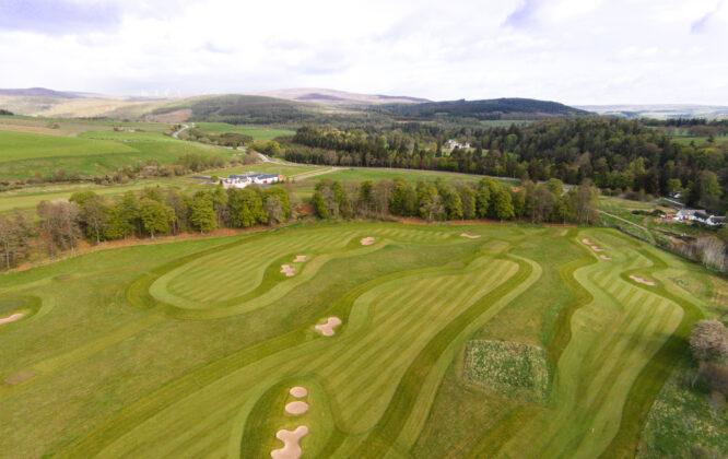 Drone shot of Ballindalloch castle