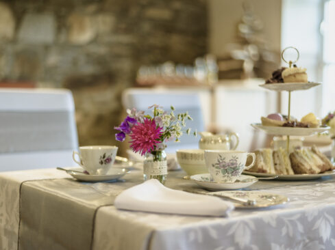 Picture of afternoon tea at Dava Schoolhouse