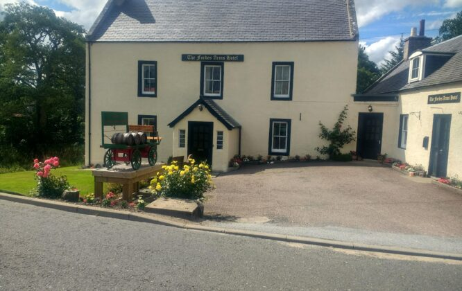 Picture from outside the Forbes Arms Hotel
