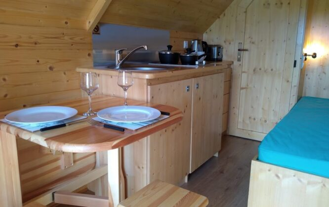 Picture of inside a hut