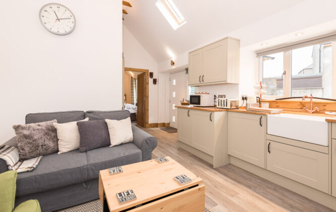 Picture of living and kitchen areas in Speyside Cottage