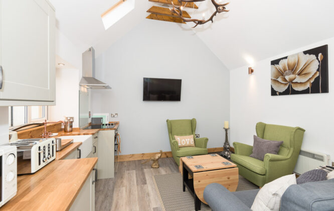 Picture of a living area in Speyside Cottage