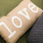 Picture of a love cushion in Speyside cottage