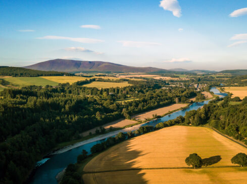 Ariel View of Aberlour and the River Spey