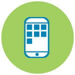mobile phone circular logo