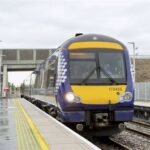 scotrail train at forres train station