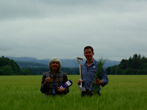 Picture of Linda Bruce and Steven Smith at Byres farm in Fochabers