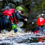Picture of 2 people gorge walking with Outfit Moray