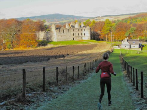 Picture of girl running in Dufftown
