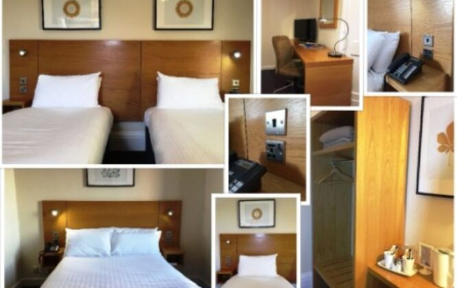 Photo collage of Stotfield Hotel rooms