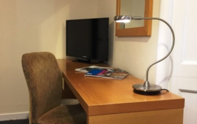 Picture of desk at Stotfield hotel