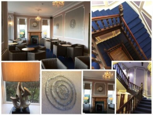 Photo collage of downstairs at Stotfield Hotel