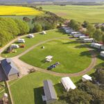 Drone shot of North Alves Holiday Park